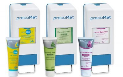 SCHLOFFER ARBEITSSCHUTZ: Sauber mit System: Hautreinigung und -pflege von Azett®